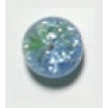 Glass Bead Cracked 10mm Peacock Light Blue/Green - Strung